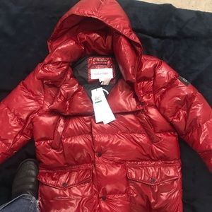 Men's NWT Red Calvin Klein Puffer